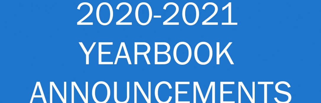 2020-2021 Yearbook Announcements