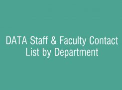 DATA Staff & Faculty Contact Information