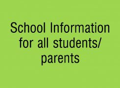 School Information for All Students/Parents