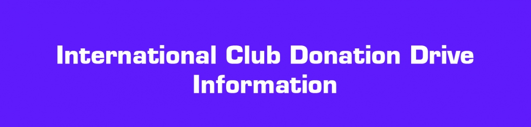 International Club – SAVERS Donation Drive