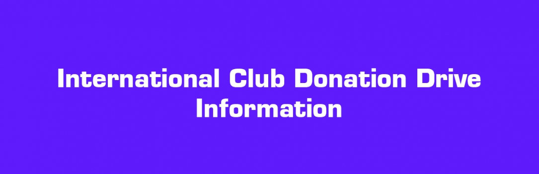 DATA Donation Drive for International Club