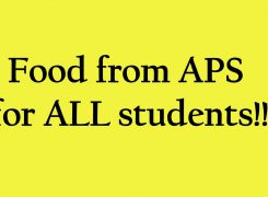 Food from APS for ALL Students!!