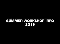 Summer Workshops 2019