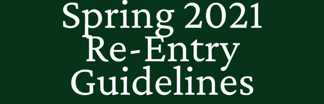 Re-Entry Information Spring 2021