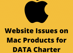 Website Issues on Mac Products for DATA Charter